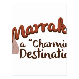 Destino encantador de Marrakesh Postal