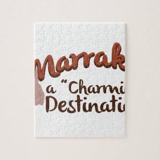 Destino encantador de Marrakesh Puzzle