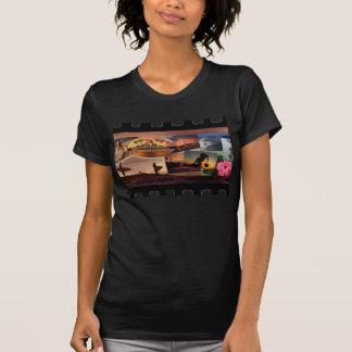Destino verde del viaje camisetas