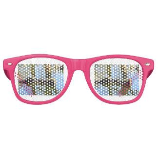 Destinos de encargo del destino de la oficina gafas de fiesta retro