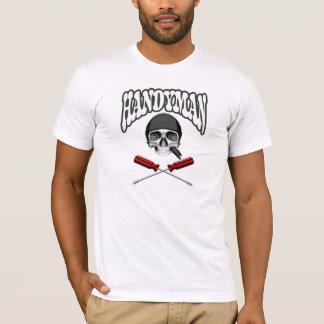 Destornilladores del cráneo de la manitas camiseta