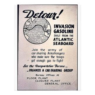 ¡Desvío Velas de la gasolina de la invasión del A Tarjetas Publicitarias