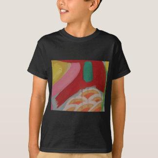 Detalle abstracto de la pintura camiseta