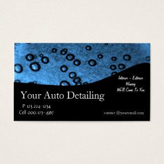 Detalle auto tarjeta de negocios