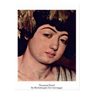 Detalle de Dionysus de Miguel Ángel DA Caravaggio Postal