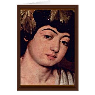 Detalle de Dionysus de Miguel Ángel Merisi DA Tarjeta De Felicitación