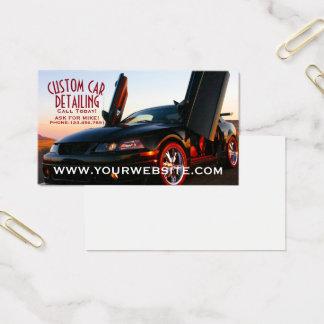 Detalle de encargo fresco del coche tarjeta de negocios