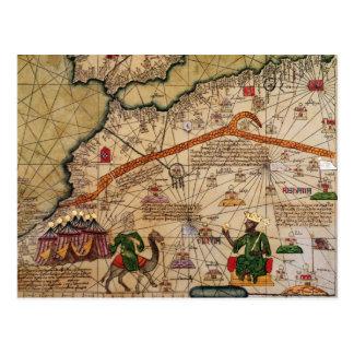 Detalle de la copia de un mapa catalán de Europa Postal