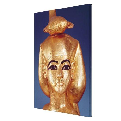 Detalle de la diosa Selket Impresiones En Lona Estiradas