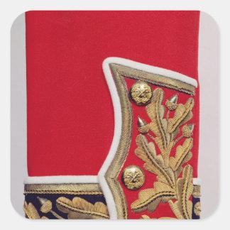 Detalle de la manga de un uniforme del ejército colcomania cuadrada