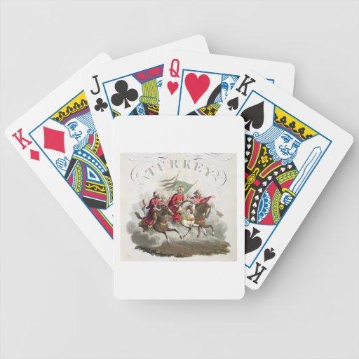 Detalle de la página de título, de los 'trajes del baraja cartas de poker