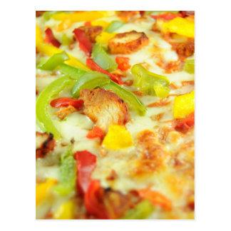 Detalle de la pizza postal