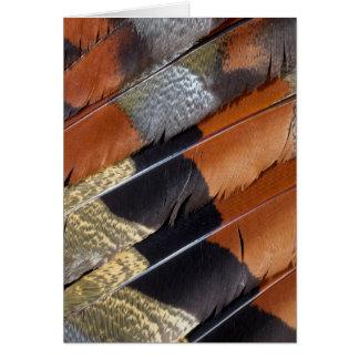Detalle de la pluma de la agua madre de salmuera tarjeta