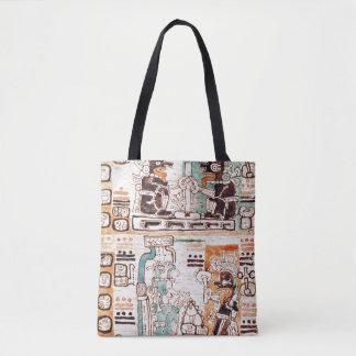 Detalle de un códice maya bolsa de tela