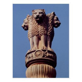 Detalle de un pilar de Ashoka Postal
