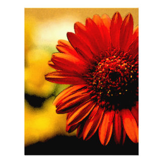 Detalle de una flor roja tarjeton