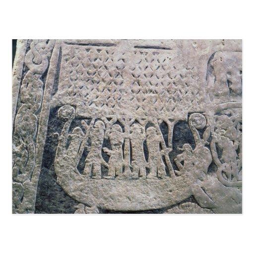 Detalle de una piedra de la imagen tarjeta postal