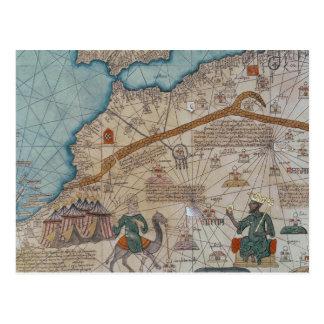 Detalle del atlas catalán, 1375 postal