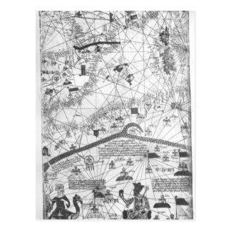 Detalle del atlas catalán, 1375 postales