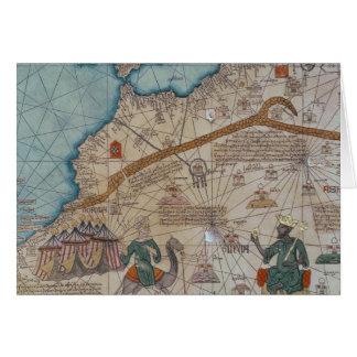 Detalle del atlas catalán 1375 tarjeta