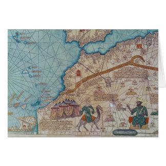 Detalle del atlas catalán 1375 felicitaciones