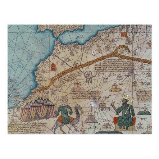 Detalle del atlas catalán, 1375 tarjetas postales