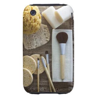Detalle del balneario de esponjas y de cepillos carcasa resistente para iPhone