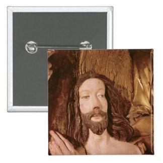 Detalle del bautismo de Cristo Chapa Cuadrada 5 Cm