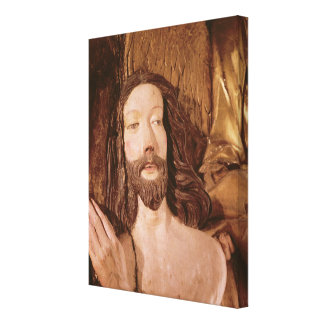 Detalle del bautismo de Cristo Impresion De Lienzo