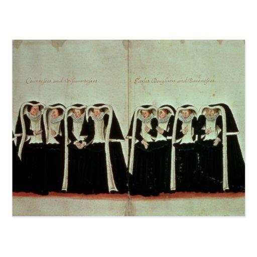 Detalle del cortejo fúnebre postal