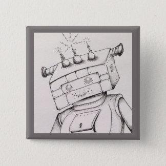 Detalle del dibujo del robot, perno de 2 pulgadas chapa cuadrada