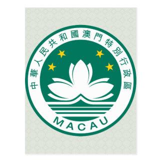 Detalle del escudo de armas de Macao Postal