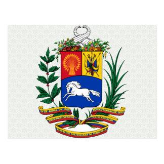 Detalle del escudo de armas de Venezuela Postal