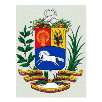 Detalle del escudo de armas de Venezuela Tarjetas Postales