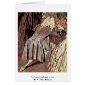 Detalle del letrero de Gersaint de Watteau Antoine Tarjetas