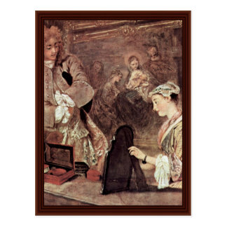 Detalle del letrero de Gersaint de Watteau Antoine Postales