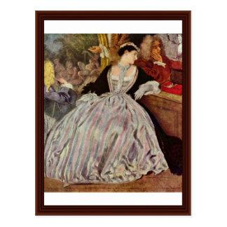 Detalle del letrero de Gersaint de Watteau Antoine Tarjeta Postal