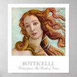 Detalle del nacimiento de Venus por Botticelli Posters