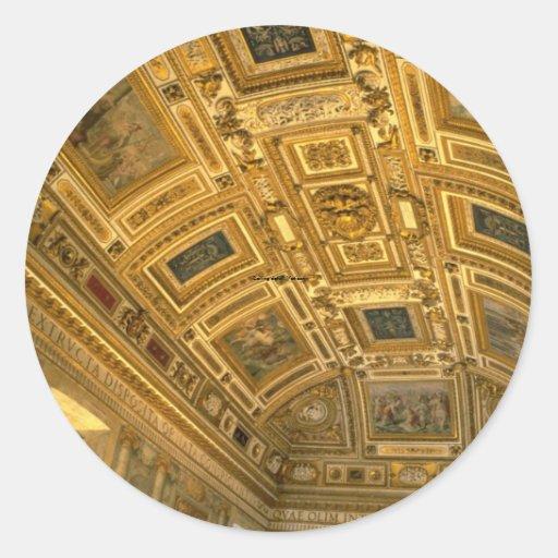 Detalle del techo, Vatican Etiqueta