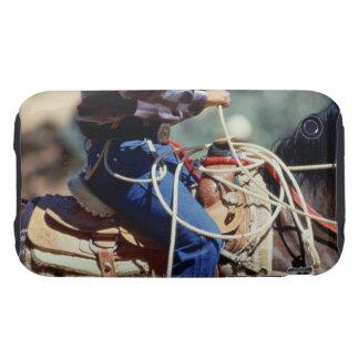 Detalle del vaquero a caballo carcasa though para iPhone 3