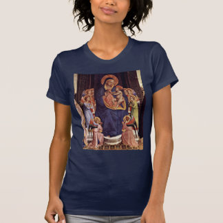 Detalle Enthroned de Madonna por Angelico Fra Camiseta