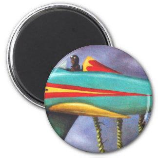 Detalle perezoso del avión del pájaro imán redondo 5 cm