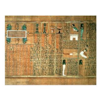Detalle que representa el difunto y sus vagos postal