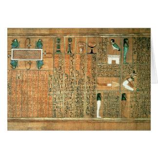Detalle que representa el difunto y sus vagos tarjeta