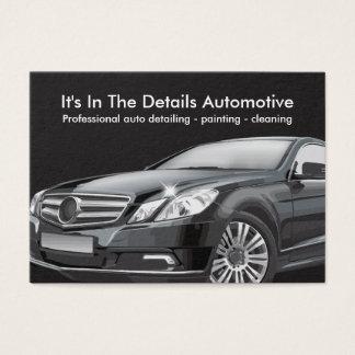Detalle y limpieza automotrices tarjeta de negocios