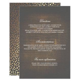 Detalles de madera rústicos del boda del confeti invitación 8,9 x 12,7 cm