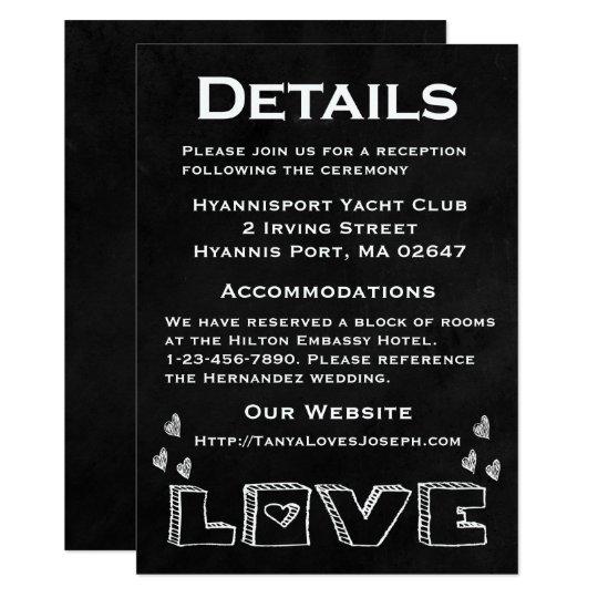 Detalles/direcciones blancos de los corazones de invitación 11,4 x 15,8 cm