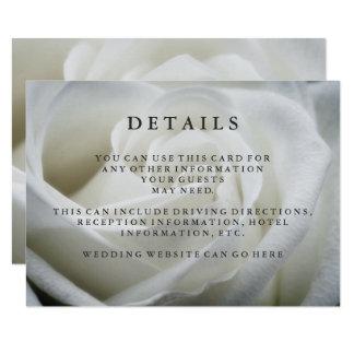 Detalles elegantes de la huésped del boda del rosa invitación 8,9 x 12,7 cm