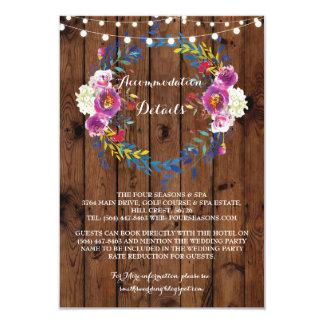 Detalles florales de las invitaciones de boda de