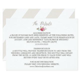 Detalles florales simples del boda del ramo de la invitación 8,9 x 12,7 cm